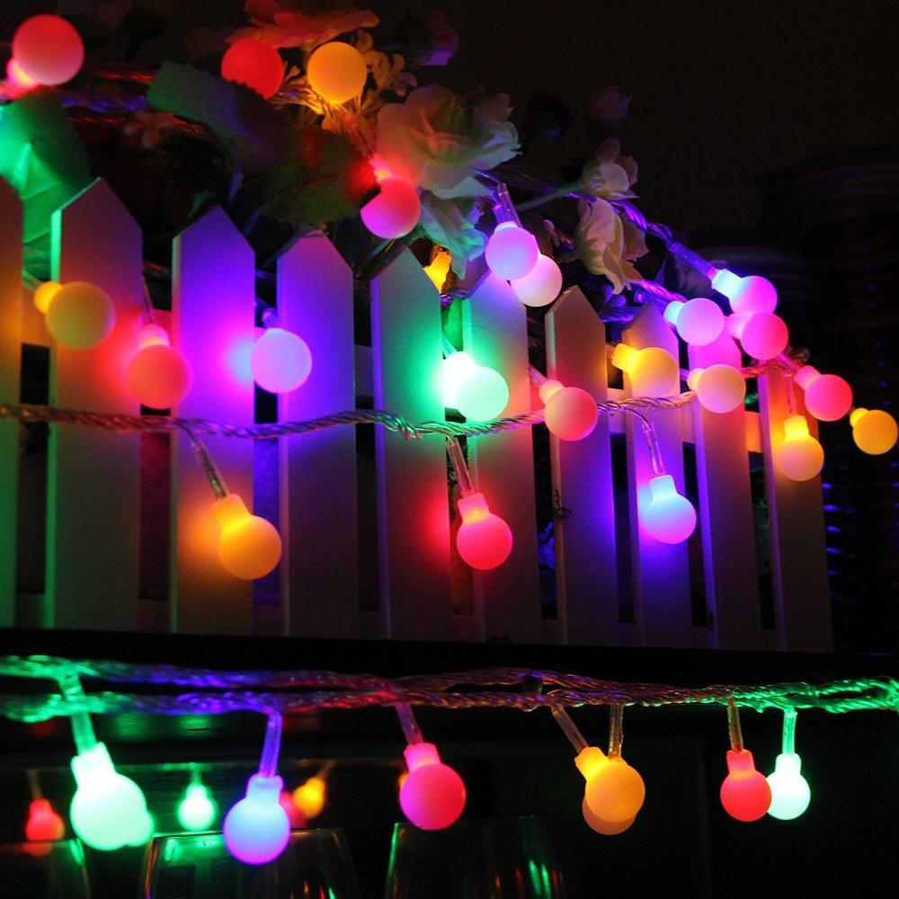 100 Multi Color Globe LED String Lights - GoGetGlam Boho Style