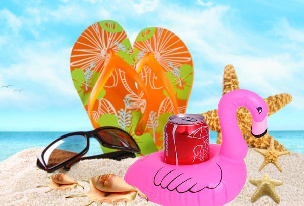 12 PC Flamingo Inflatable Party Pool Drink Floats-GoGetGlam