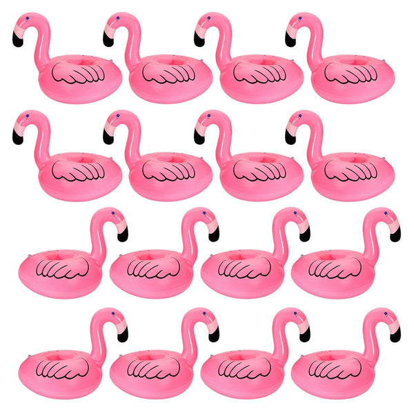 12 PC Flamingo Inflatable Party Pool Drink Floats - GoGetGlam Boho Style