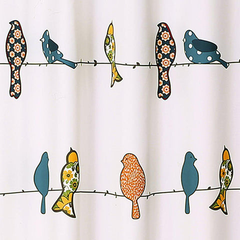 Birds on a Branch Shower Curtain-GoGetGlam