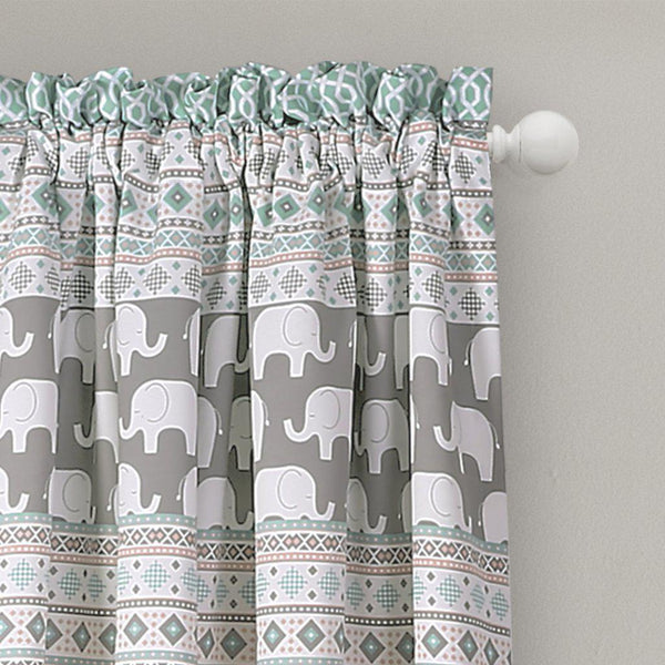 Elephants On Parade Room Darkening Window Curtains-GoGetGlam