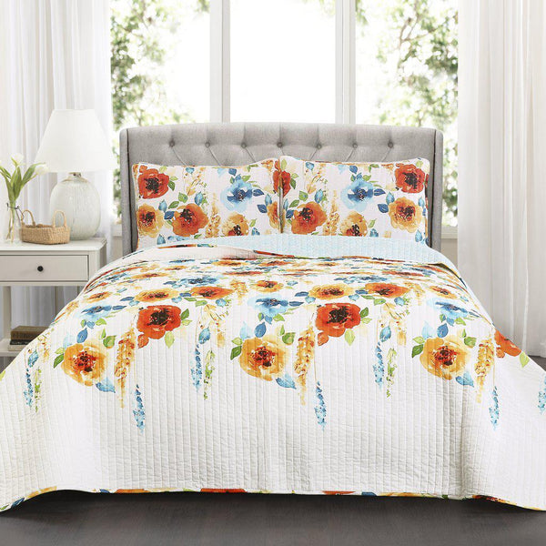Spring Bloom Floral Bedding Quilt Set-GoGetGlam