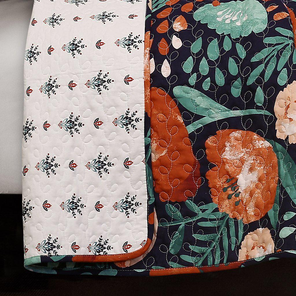Field of Poppies Floral Bedding Quilt Set-GoGetGlam