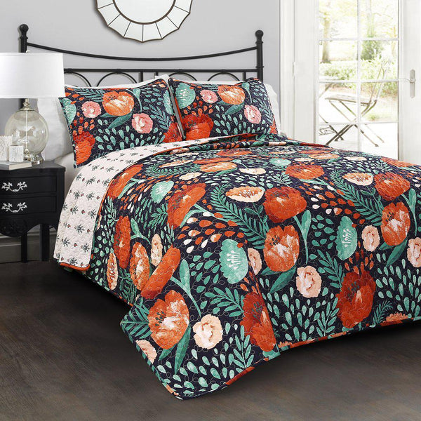 Field of Poppies Floral Bedding Quilt Set