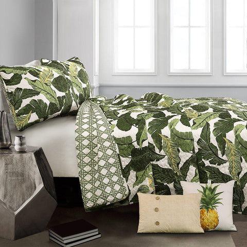 Pineapple Paradise 5PC Quilt Bedding Set-GoGetGlam