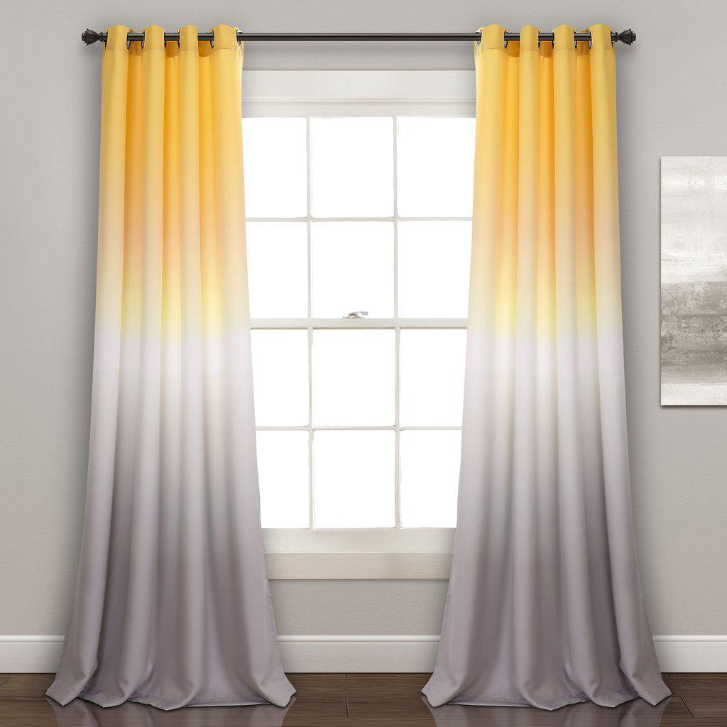 yellow panel window panels curtain bathroom grey bright per ease and curtains new
