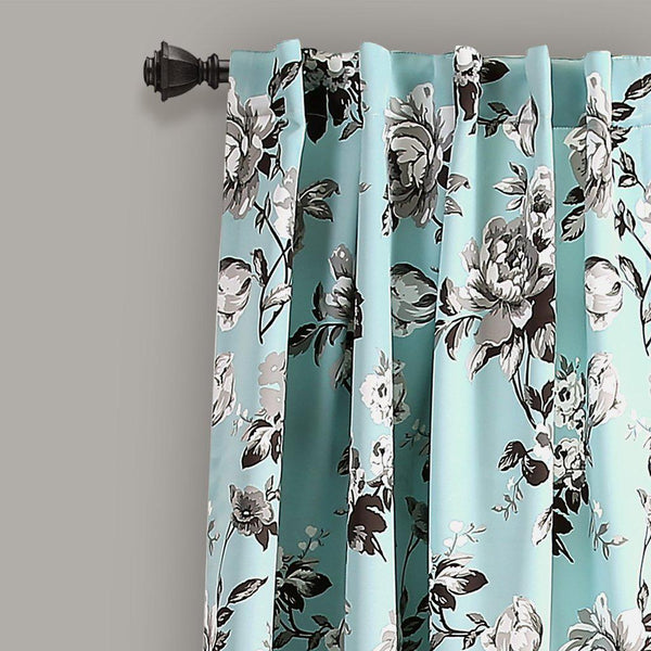 Audrey Floral Room Darkening Window Curtains-GoGetGlam