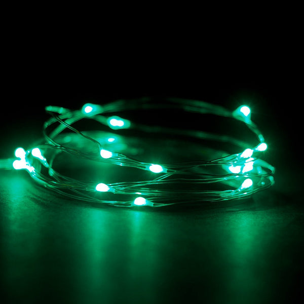 2 Sets of Micro LED Super Bright Color Lights on 6 Ft Silver Wire - GoGetGlam Boho Style