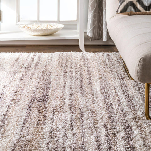 nuLoom Tasia Neutral Ombre Shag Rug-GoGetGlam