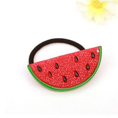 3 PC Set of Watermelon Strawberry Fruit Hair Ties-GoGetGlam