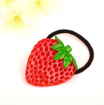 3 PC Set of Watermelon Strawberry Fruit Hair Ties - GoGetGlam Boho Style