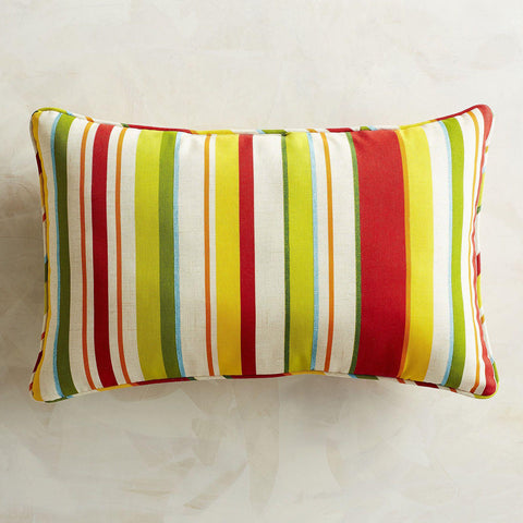 Sun Striped Indoor/Outdoor Throw Pillow-GoGetGlam