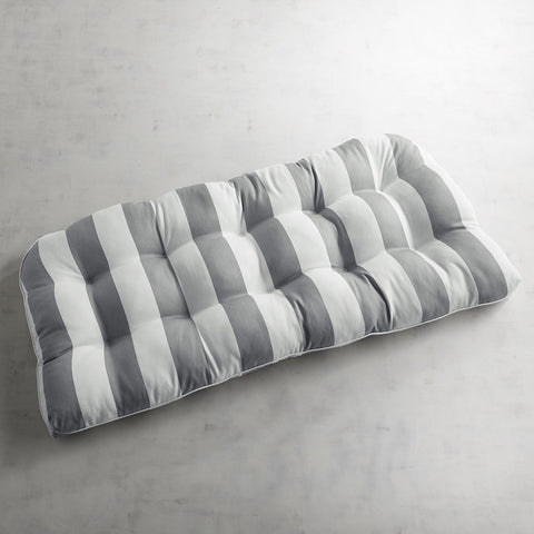 Contour Settee Cushion in Dover Pewter-GoGetGlam