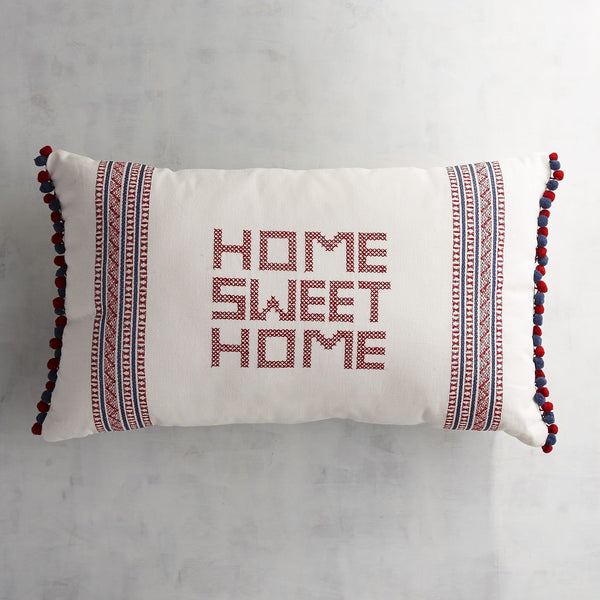 Home Sweet Home Stitched Throw Pillow-GoGetGlam