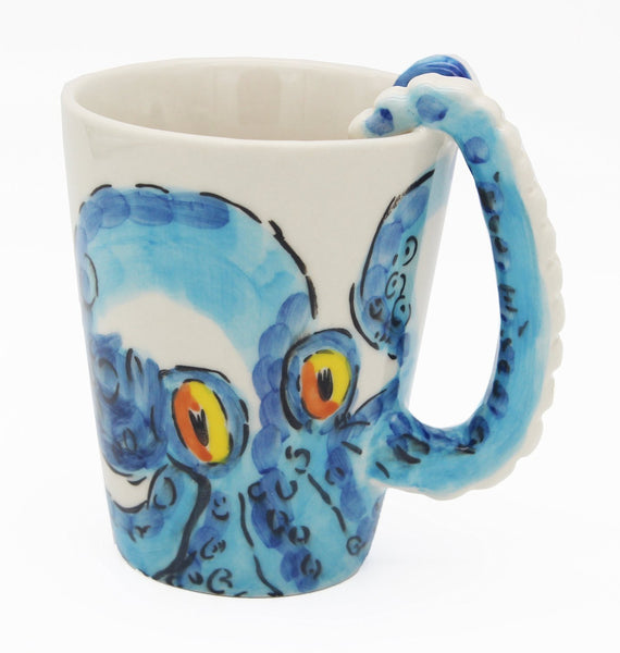 3D Ceramic Octopus Coffee Tea Cup Mug-GoGetGlam