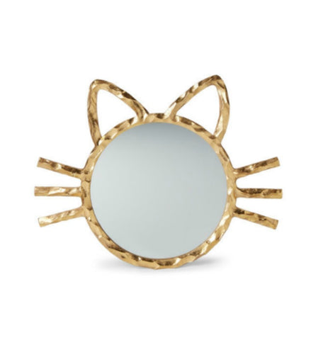 Gold Cat Wall Mirror - GoGetGlam Boho Style