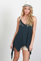 Emmilee Embroidered Tank Top - GoGetGlam Boho Style