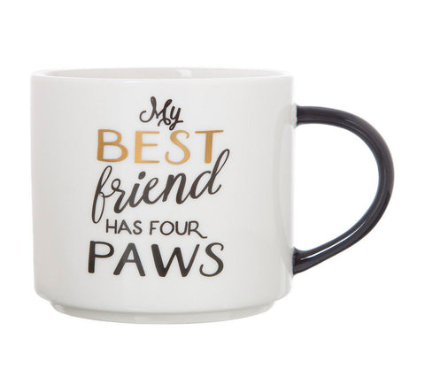 My Best Friend Has Four Paws Stackable Coffee Mug-GoGetGlam