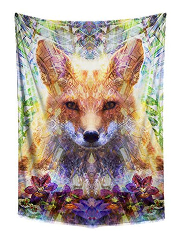 Woodland Fox Boho Fabric Wall Tapestry