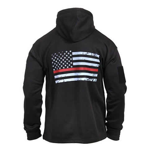 Thin Red Line Firefighter Concealed Carry Hoodie - Boho Bohemian Decor