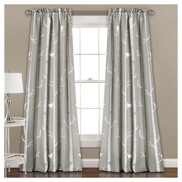 Bird On A Branch Window Curtain SET-GoGetGlam