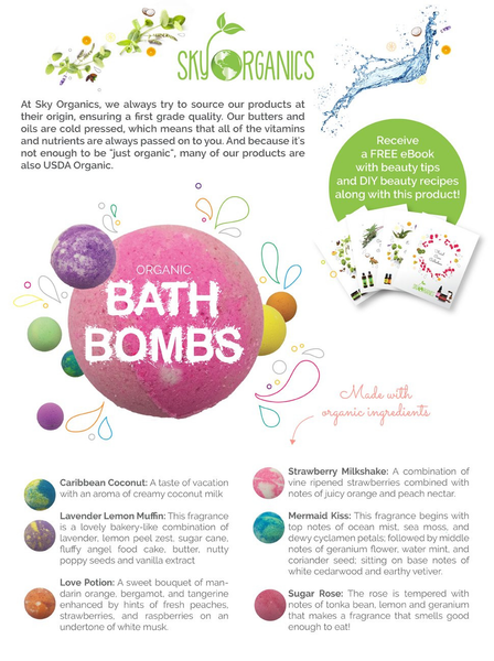 6 HUGE Organic Bath Bombs Gift Set-GoGetGlam