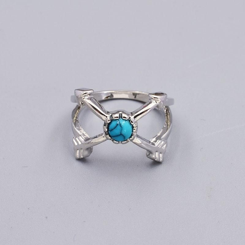 6 PC Turquoise Boho Ring Set in Silver or Gold – GoGetGlam