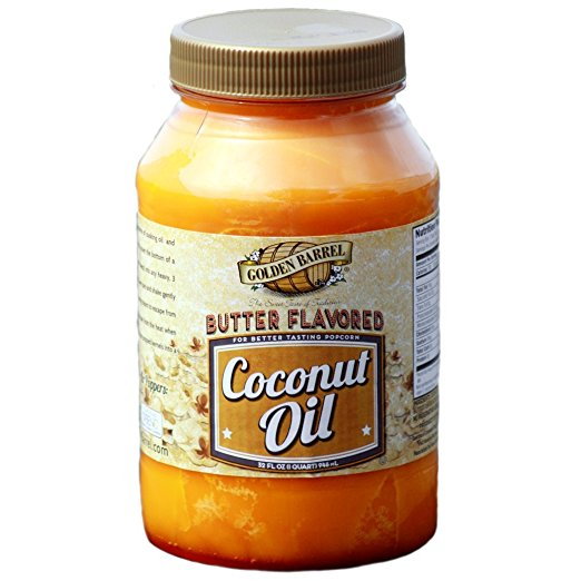 Butter Flavored Coconut Oil for Popping Corn-GoGetGlam