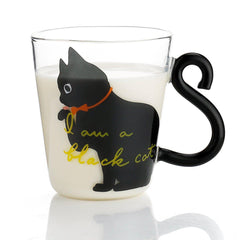 Cat Tails Set of 2 Glass Mugs-GoGetGlam