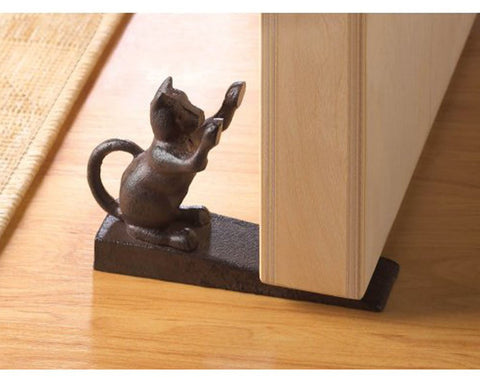 Scratching Cat Door Stopper - GoGetGlam Boho Style