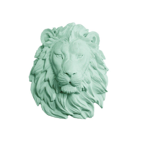 Regal Lion Wall Trophy Bust - Boho Bohemian Decor