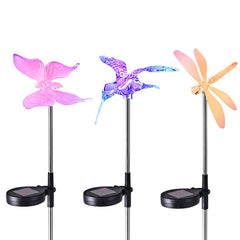 3PC Spring Theme Color Changing LED Solar Light Stakes - GoGetGlam Boho Style
