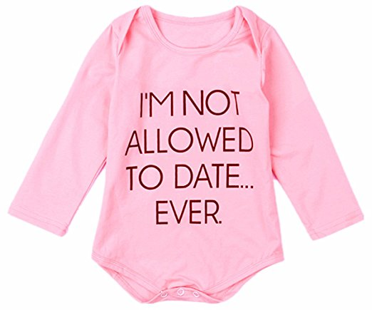 Not Allowed To Date Ever Baby Girl Onesie-GoGetGlam