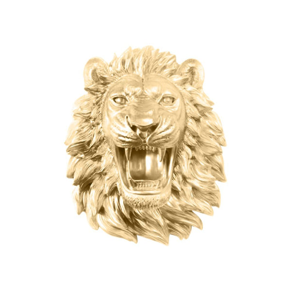Fierce Roaring Lion Wall Trophy Bust - Boho Bohemian Decor