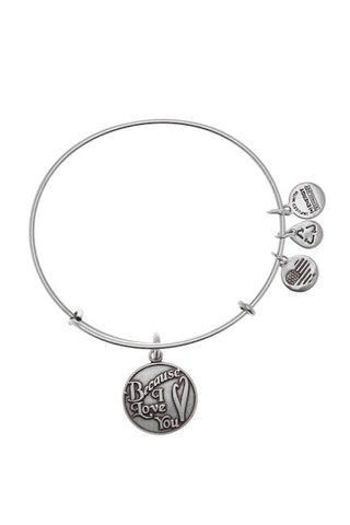 Alex and Ani Because I Love You Silver Bangle Bracelet