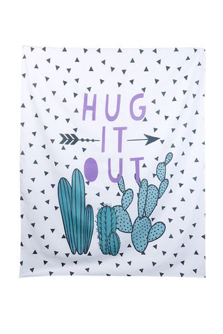 Hug It Out Cactus Wall Tapestry - GoGetGlam Boho Style