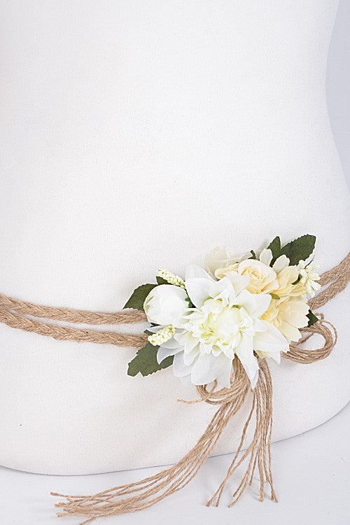 Boho Wedding Flower Belts-GoGetGlam