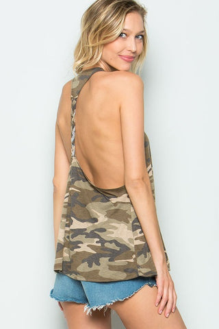 Military Camo Casual Tank Top