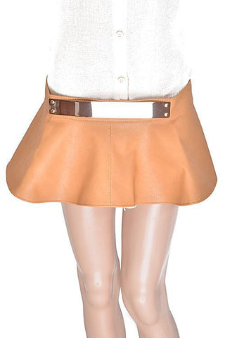 Vegan Leather Skirted Tie Back Belt
