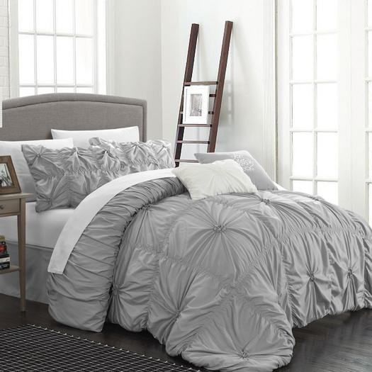 on white deal sets queen shop microfiber piece pleated home comforter wonder hampton amazing set