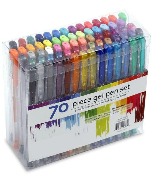 70 Gel Pen Set For Adult Coloring Books & More - GoGetGlam Boho Style