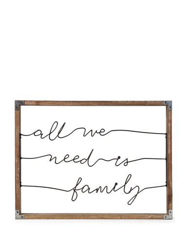 All We Need Is Family Wired Wall Art - GoGetGlam Boho Style