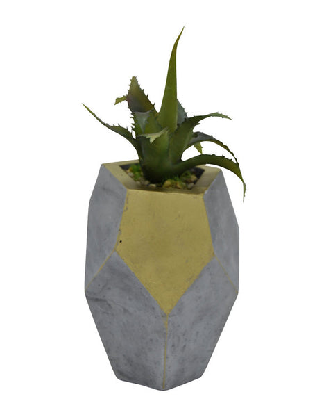 Luxury Brand Faux Succulent in Planter