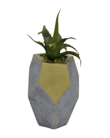 Luxury Brand Faux Succulent in Planter-GoGetGlam