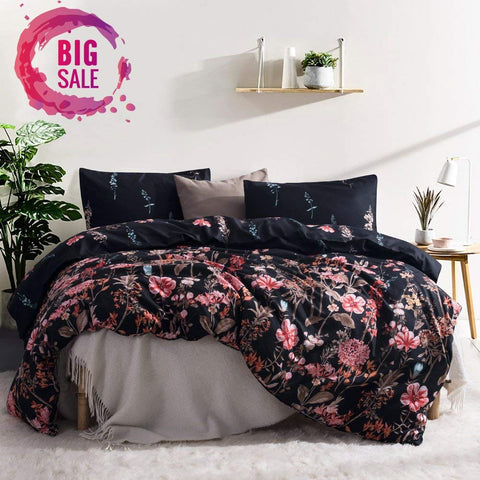Floral Fantasy Duvet Bedding Set - Boho Bohemian Decor