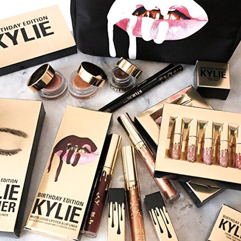 Kylie Jenner Gold Ltd Edition Birthday Matte Lipstick SET - Boho Bohemian Decor