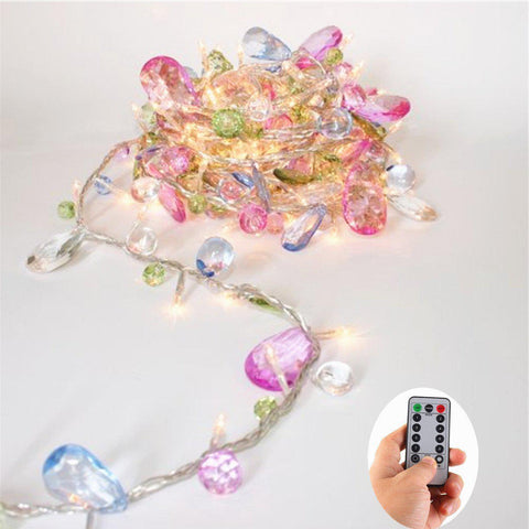 GLAM Exclusive Jewel Shaped Sparkle LED Fairy Lights-GoGetGlam