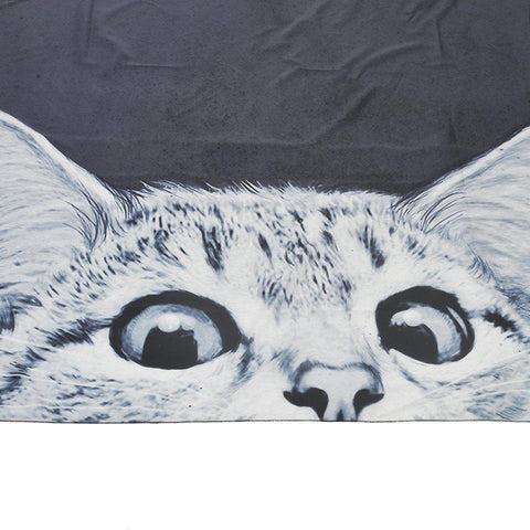 Peek-a-Boo Kitty Cat Fabric Wall Tapestry-GoGetGlam