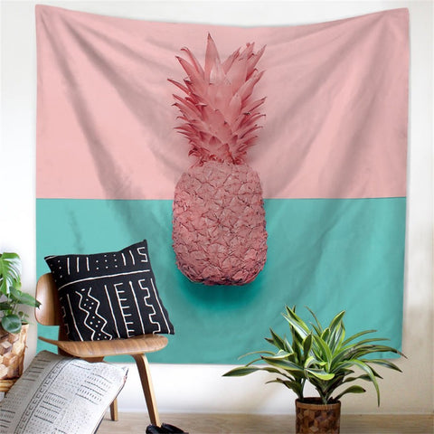 Pretty Pink Pineapple Wall Tapestry - GoGetGlam Boho Style