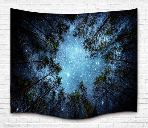 Beneath The Stars Fabric Wall Tapestry - GoGetGlam Boho Style